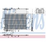 Радіатор кондиціонера / MERCEDES-BENZ / Артикул: NIS 94614