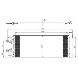 Радіатор кондиціонера / CITROEN, FIAT, PEUGEOT / Артикул: NRF 35894