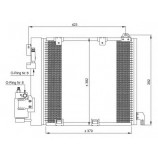Радіатор кондиціонера / OPEL / Артикул: NRF 35302