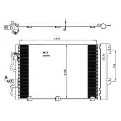 Радіатор кондиціонера / OPEL / Артикул: NRF 35555