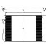 Радіатор кондиціонера / BMW / Артикул: NRF 35537