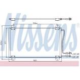 Радіатор кондиціонера / MERCEDES-BENZ / Артикул: NIS 94225