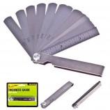 Комплект щупів для свічок запалювання 0,05-0,63 мм, 15 од. (КЩ-6026) Alloid