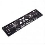 Рамка номера (UKR-03) пластик CHEVROLET з хром. рельєфним надписом