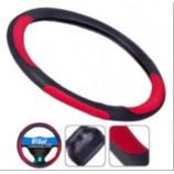 Чохол на кермо 080242/17023 RD XL з червоними вставками