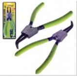 Щипці для стопорних кілець розжим загнутий 175мм Alloid СК-6044D