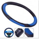 17023 BL S чор. з синіми вставками оплітка на кермо