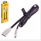 Кабель VOIN USB-Micro USB 1м black з (індикатором) VL-004BK