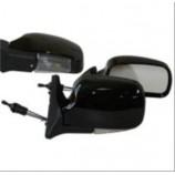 Дзеркало бічне ЗБ 3107П з поворотом чорне/LED, к-т