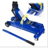 Домкрат підкатний 2т з запобіжником в чемодані 8,5 кг, підйом 345мм ДП-20009КШ (шток) (ТА82003BS)
