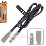 Кабель VOIN USB Type C (Black) VP-006BK з індикатором
