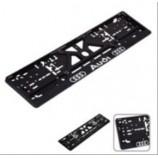 Рамка номера (UKR-02) пластик AUDI з хром.рельєфним надписом