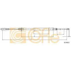 Трос ручного гальма L/R Citroen C5 2000-