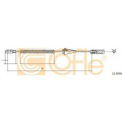 Трос ручного гальма зад. Opel Astra H, Combo, Zafira A 1.6-2.2Dti 04.99-