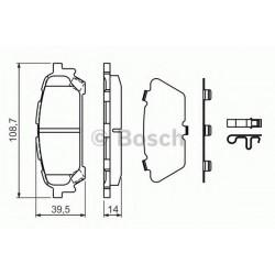 Гальмівні колодки дискові зад. Subaru Forester/Impreza 2.0-2.5 03-