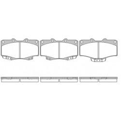 Гальмівнi колодки дискові перед. Great Wall// Toyota Hilux II 1.8/2.4D/2.5D 08.88-07.05