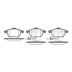 Гальмівні колодки дискові перед. Audi A6 1.8-2.8 97- VW Passat Skoda