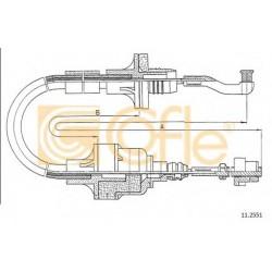 Трос зчеплення Opel Vectra 1.4/1.6/1.7TD 89-