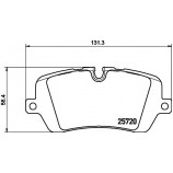 Гальмівні колодки диск.задні Range Rover IV 3.0D-5.0 12-