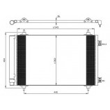 Радіатор кондиціонера Citroen Jumpy 2.0 HDI 07-